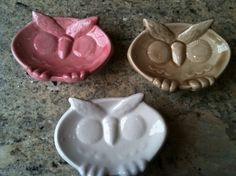 owl teabag holders