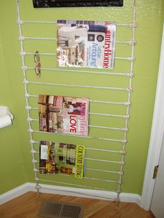 re-purpose photos. Love this one. Magazine rack