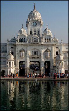 Sri Harmandir Sahib Clock Tower in Amritsar, India