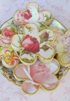 english roses, cake, shabby chic, white chocolate, cooki art, decorated cookies, beauti cooki, decor cooki, haute couture