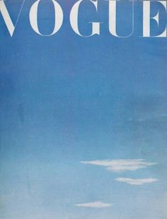 Blue skies: British Vogue October 1945, by James de Holden-Stone