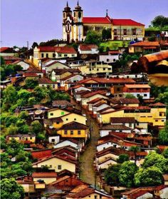 The historical city of Ouro Preto, Minas Gerais, Brazil