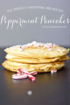 peppermint pancakes- these are so good and easy to make for a holiday breakfast!