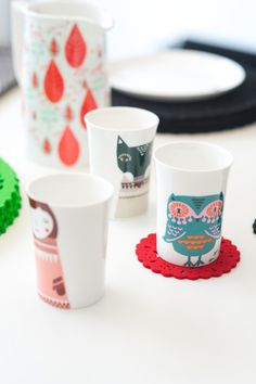kid cups by Donna Wilson
