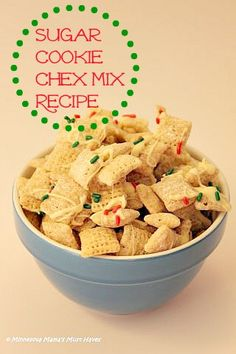 Sugar Cookie Chex Mix Recipe And link to other Chex Recipes