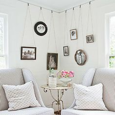 awesome way to hang pictures