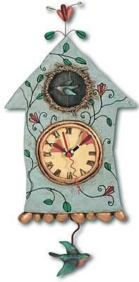 Fly Bird Clock Allen Studio Designs    $55.00