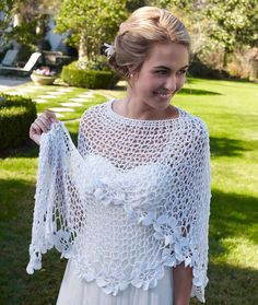 Bridal Shawl free crochet pattern