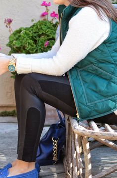 sweater weather and j crew puffer vest