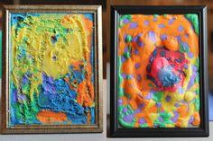 3d paint, craft, 3d art project, puffi paint, puffy paint, picture frames, pictur frame, puff paint, paint pictur