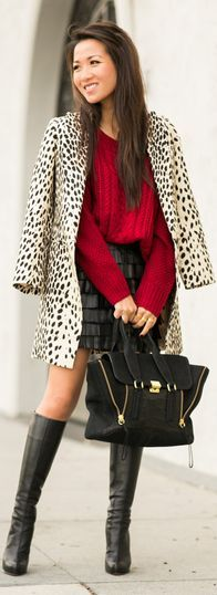 #Cozy : #Oversized #Sweater & #Fringe #Skirt by Wendy's Lookbook