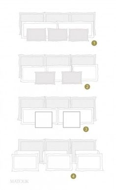 How to arrange pillows on a king sized bed