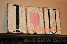 The CrEaTiVe CraTe: {I LoVe U} Boards!