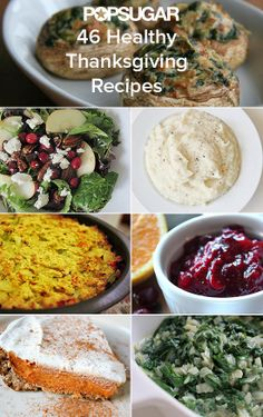 The answer to your recipe prayers! 46 healthy and delicious Thanksgiving recipes. Gluten-free, Paleo, and vegan options here.