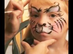 Kitty Cat Face Painting Design Tutorial for Halloween