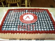 Alabama Football Houndstooth Cake By sand1364 on CakeCentral.com