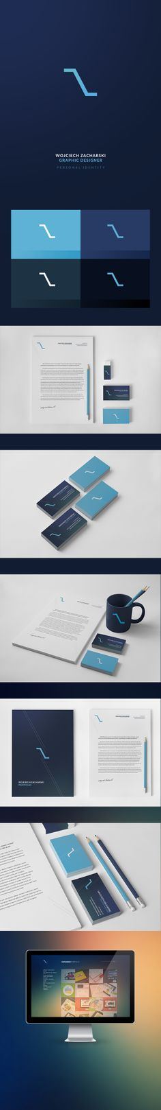 Zacharski Portfolio - Personal Identity by Wojciech Zacharski, via Behance