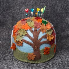 Autumn pin cushion.