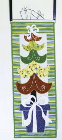 """Swirly Whirly Tree Wallhanging Pattern by Patchabilities at KayeWood.com. 12"""" x 32"""". http://www.kayewood.com/item/Swirly_Whirly_Tree_Wallhanging_Pattern/3577 $9.00"""