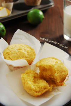 Lime Corn Muffins #muffins #recipe