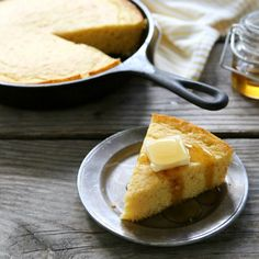 """""""This cornbread is from-scratch and bursting with flavor. Buttermilk, honey and butter all help to make this a loaf of cornbread worthy of the spotlight."""" - Annalise, Completely Delicious"""