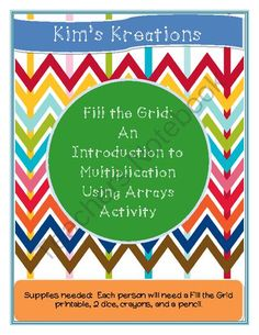 Fill the Grid: An Introduction to Multiplication Activity from Kim's Kreations on TeachersNotebook.com -  (3 pages)  - Challenge your students to fill the grid in this activity that relates multiplication to arrays.