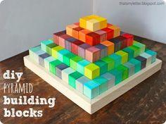 Solid Wood Pyramid Block Set {Land of Nod inspired}