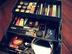 learning spaces, makeup organ, makeup storage, skin products, makeup box, art, organizers, beauti, skin care products