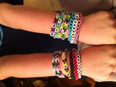 Rainbow loom rubber band braclets!