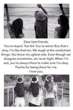 Dear best friends...