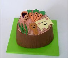 BRILLIANT cake for a Yo Gabba Gabba party!  There's a party in my tummy - so yummy...so yummy!