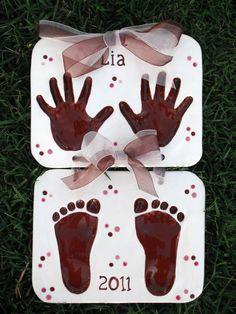 Children's Hand Print and Foot Print Keepsake Clay | Heart Handmade Blog