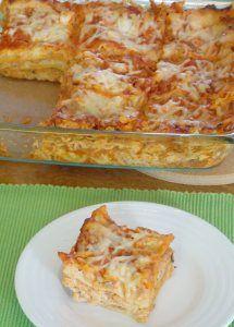 Turkey and Artichoke Lasagna - delicious spin on the classic pasta bake.