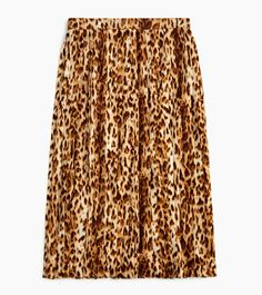 Pleated Leopard Prin