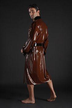 Long Latex Bathrobe - Simon O long latex, fashion latex, latex fashion, men latex