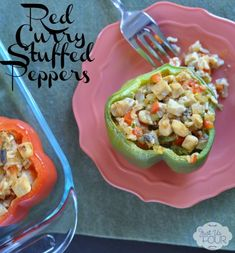 Thai Red Curry Stuffed Peppers