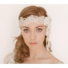 Bridal headpiece wedding headband forehead by EricaElizabethDesign, $285.00