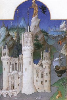 "The Limbourg Brothers, ""Les très riches heures du Duc de Berry"" (c. 1416, Illumination on vellum) #illumination"