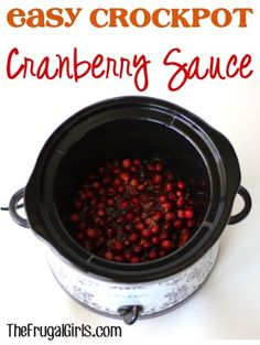 Easy Crockpot Cranberry Sauce Recipe at TheFrugalGirls.com