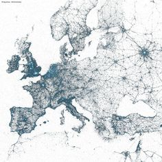 The geography of tweets: all the geotagged tweets from Europe since 2009, on Flickr - #twitter #socialmedia #visualisation