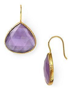 Coralia Leets Deep Purple Mother of Pearl Teardrop Earrings | Bloomingdale's