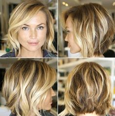 Layered Choppy Messy Bob (I like the back is shown, for me I would chop the bangs a bit more)...
