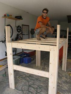 Bed Diy project on Pinterest | Loft Beds, Pallet Kids and ...