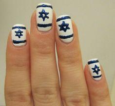 isra flag, manicur, flag nail