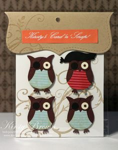 Pirate Owls made with Stampin' Up! Owl Builder Punch