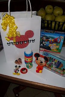 Mickey Mouse party gift bags