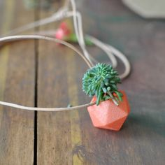 Mini Icosahedron Planter Peach now featured on Fab.