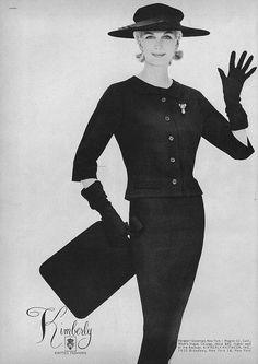 Sunny Harnett for Vogue (September 1957), photographed by Richard Avedon