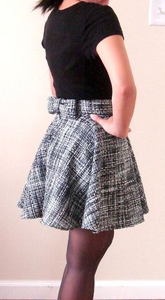 beautiful wool circle skirt, perfect for those cold, wintery months!