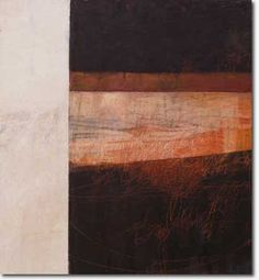 This is an amazing oil and cold wax abstract by Rebecca Crowell.